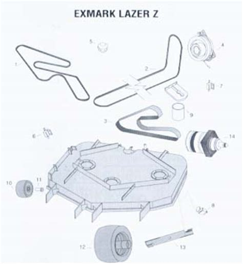exmark lazer z parts diagram image gallery exmark parts