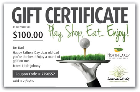 golf gift card template buy gift certificates lakes resort golf club