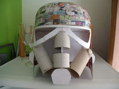 How To Make A Stormtrooper Helmet Out Of Paper - tutorial how to build a stormtrooper helmet for less than