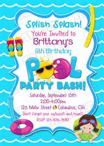 items similar to pool invitation swim swimming birthday printable invitations
