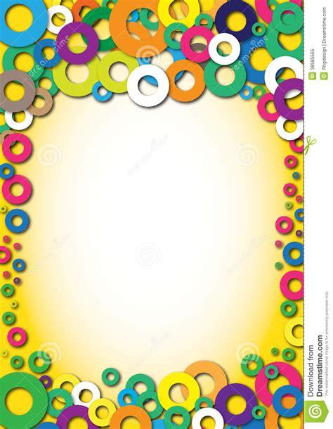 background design for kinder color background kindergarten diploma stock illustration