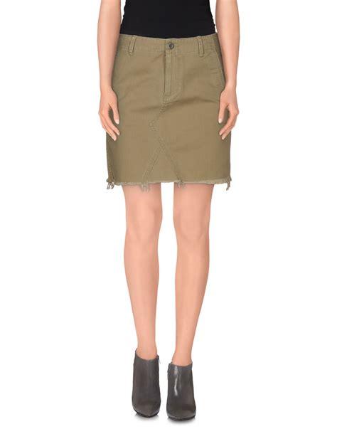 denim supply ralph mini skirt in green lyst