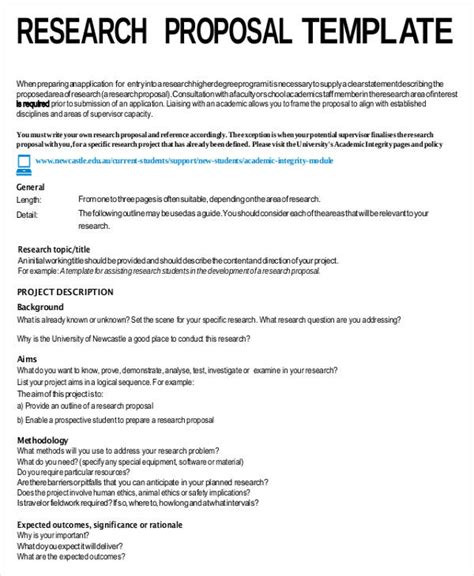 Academic Research Project Template Academic Templates 7 Free Word Pdf Format