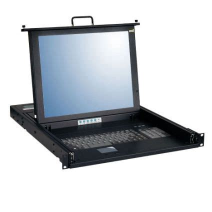Rackmount Monitor Drawer by 1u 17 Quot Rackmount Lcd Keyboard Drawer With Single Port Kvm