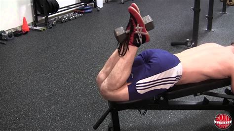 hamstring curl bench how to dumbbell hamstring curl youtube