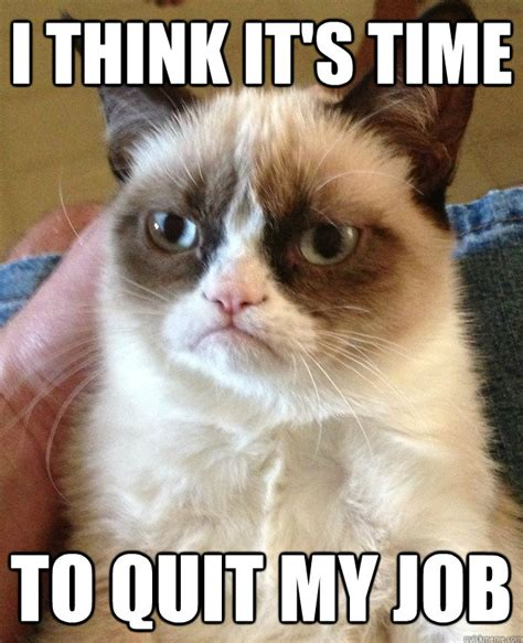 Quit Meme - i think it s time to quit my job grumpy cat quickmeme