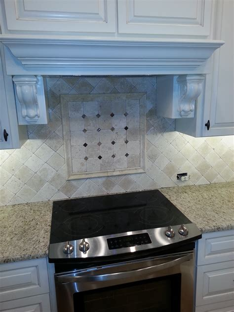 custom kitchen tile backsplash stove by aaa