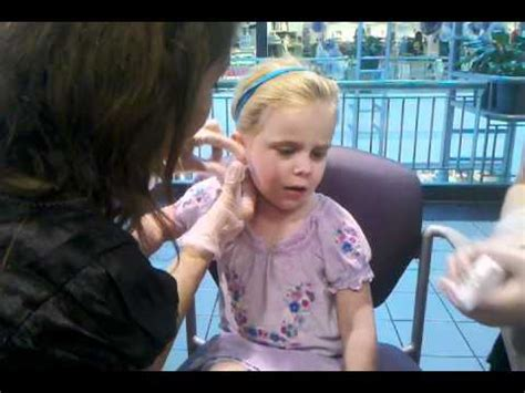 is 66 years old too old to ear bangs 3 year old gets ears pierced without crying youtube