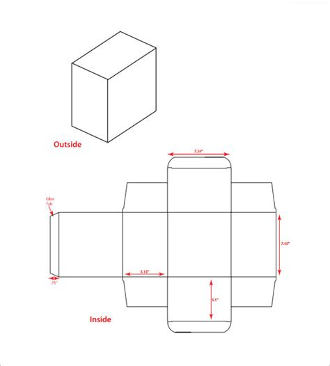 small box template square box dimensions template pictures to pin on