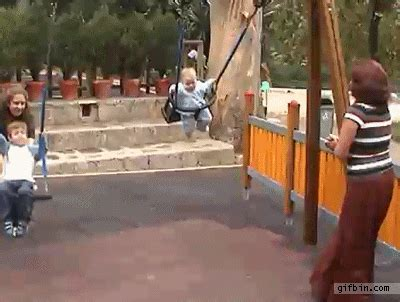 fat girl falls off swing 22 very funny fall gif pictures