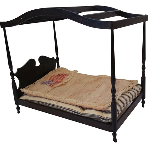 dollhouse paint dollhouse black paint canopy bed flag coverlet from