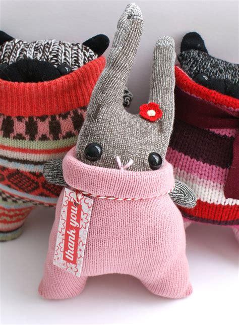 kaos bunny and elephant sock bunny 양말인형 chang e 3 set of and sock