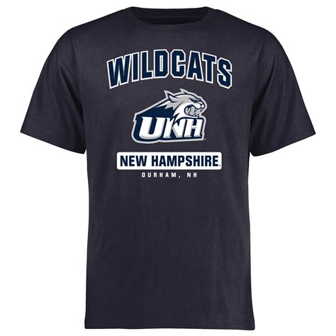 New 8022 Navy new hshire wildcats big cus icon t shirt navy
