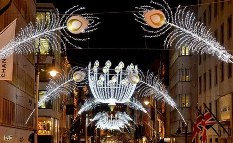 bond street christmas lights switch on new west end