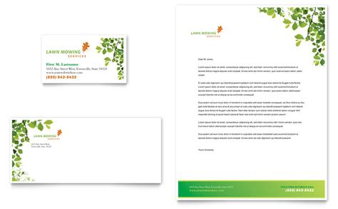 maintenance card template lawn mowing service business card letterhead template