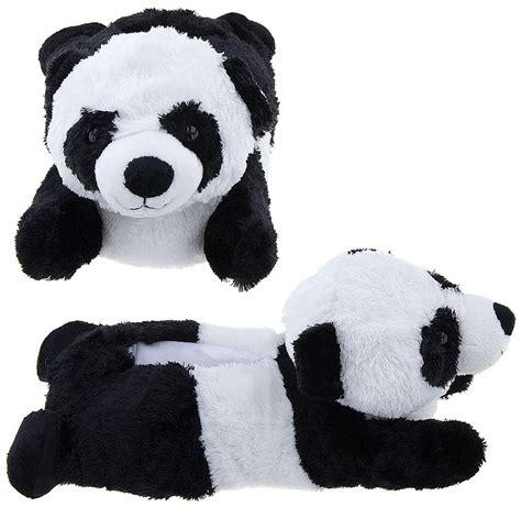 panda slippers wishpets children kid size panda animal paw
