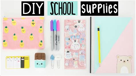 diy school supplies diy school supplies for back to school doovi