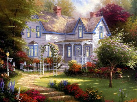 Kinkades Cottage by Home Living Cottages Of A Tribute To Kinkade