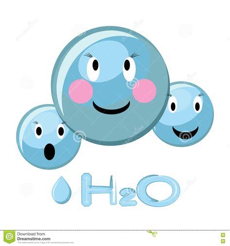 clipart acqua illustrazione fumetto della molecola di acqua
