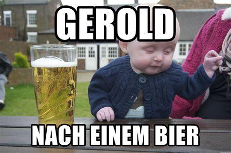 Drunk Funny Memes - gerold nach einem bier drunk baby 1 meme generator