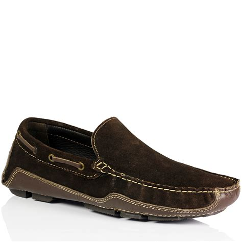 summer loafers mens slip on leather suede casual driving loafers