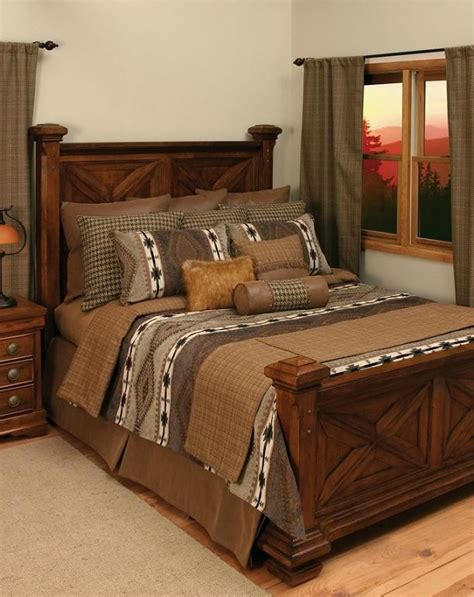 rustic bedroom comforter sets apache bedding rustic comforter set lodge craft