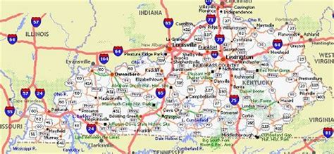 kentucky attractions map kentucky poster dealers travel map