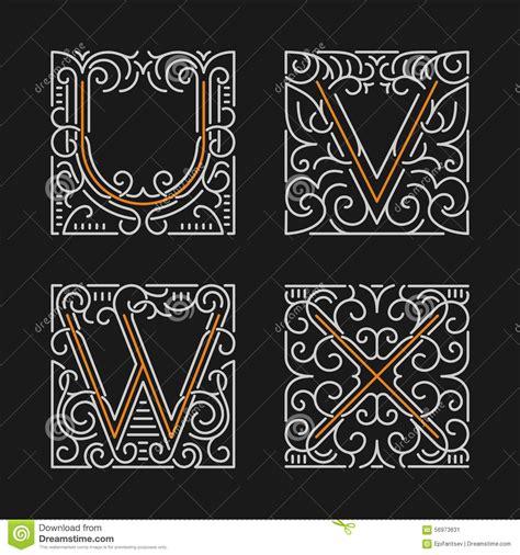 monogramma lettere l insieme dei modelli alla moda dell emblema