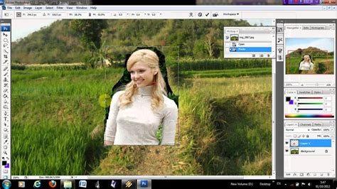 video tutorial edit foto dengan photoshop cs3 mengganti background foto dengan photoshop cs3 youtube