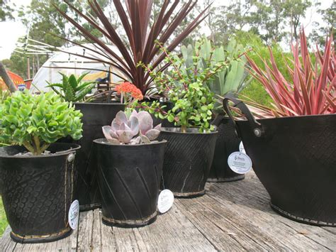 cool planters   recycled tires