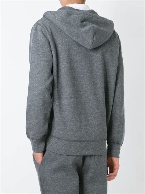 Polos Zip Hoodie lyst polo ralph zip hoodie in gray for