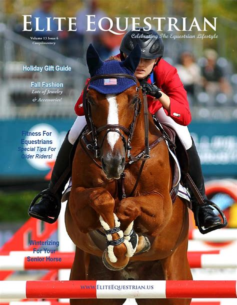 ambush mag volume 31 issue 18 2013 elite equestrian nov dec issue 2013 by elite equestrian