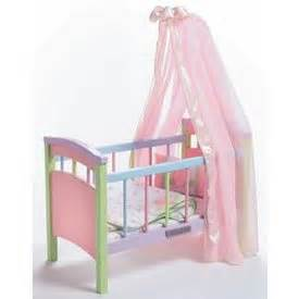 Dolls Crib With Canopy by Middleton Doll Crib Doll Accessories