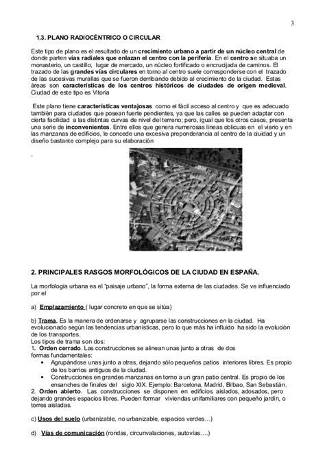 Tema 11 Morfología y estructura de la ciudad en España