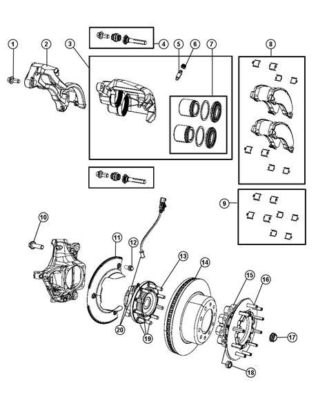 dodge ram  caliper assembly disc brake