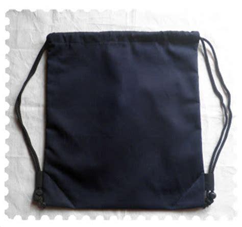 Pouch Tas Serut Blacu Pre Order hitam canvas tas serut kanvas hitam
