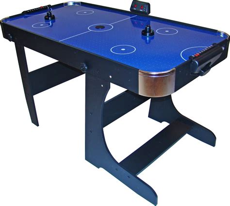 Folding Air Hockey Table Foldable 5 Foot Air Hockey Table Air Hockey With Folding Legs Pucks Included Ebay