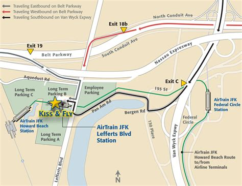 jfk airtrain map fly parking airport guide f kennedy international airport port authority of