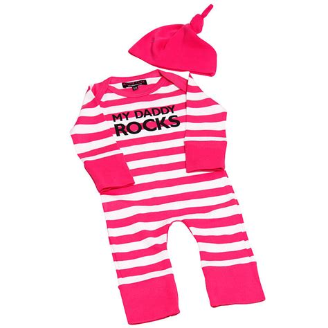 Clodi Babygrow Pink Zebra my rocks stripe cool baby grow by nappy