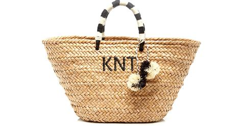 St Tropez Tote by Kayu Black And White St Tropez Monogram Tote In Beige