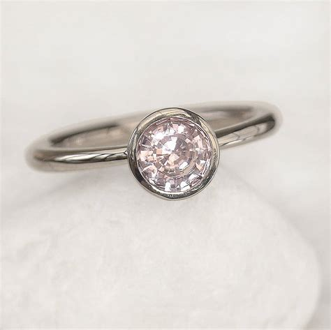 light pink sapphire engagement ring by lilia nash