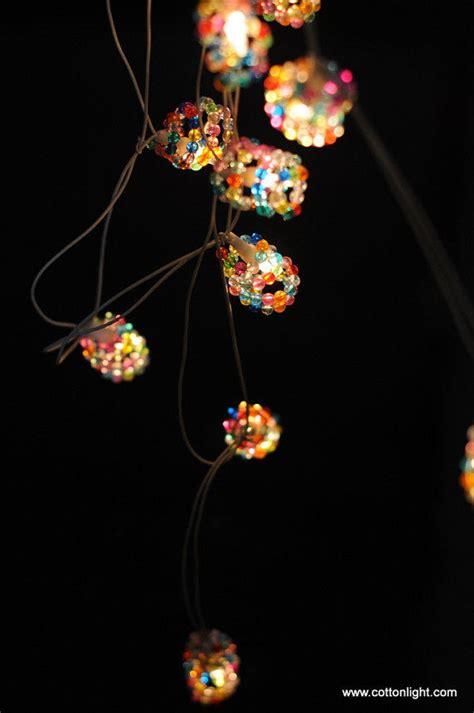beaded garland lights sale 30 percent handmade bead from cottonlight on
