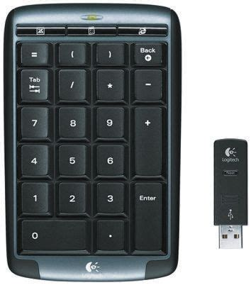 Keyboard Numeric Logitech 920 002338 Logitech Black Wireless Usb Numeric Keypad
