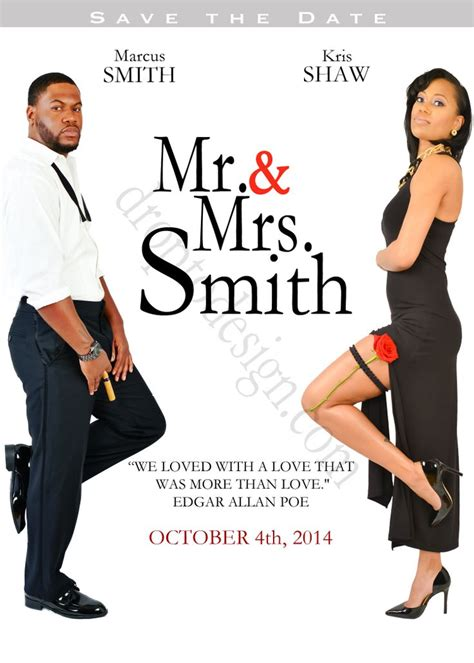Mr And Mrs Smith Soon To Be This Save The Date Session Is In The Style Of The Movie Mr Mr And Mrs Smith Save The Date Template
