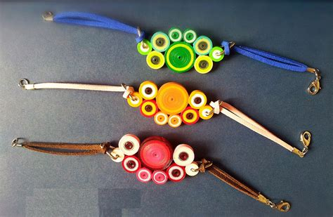 Paper Jewellery Ideas - quilling paper bangles bracelet designs for