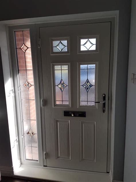 Front Doors With Side Panels Composite Door In Blyth Glass Side Panel Excel East