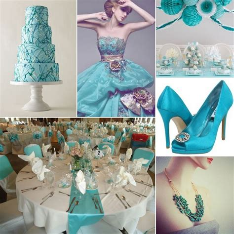 turquoise white and silver wedding inspiration