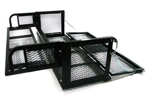 rear atv storage rack drop basket steel cargo carrier