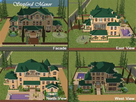 Mansions Floor Plan With Pictures mod the sims the stepford project v final mansion by d d i