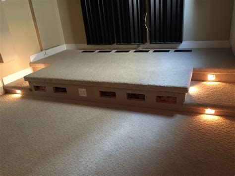 adding a home theater riser to an enthusiast s room